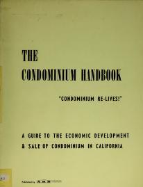 Cover of: The condominium handbook | C. D. Gardner